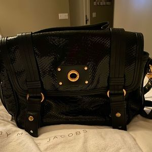 Marc Jacobs patent leather cross body satchel